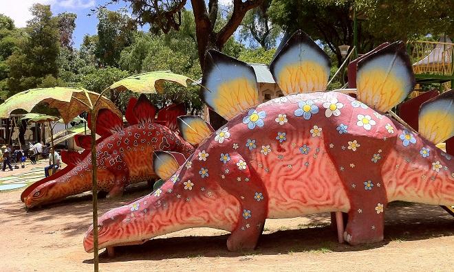 Dinosaur-themed children's park